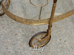 1950-1970 Trolley Rolling Brass Art Nouveau Style