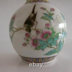 2 Vases Ceramic Porcelain Porcelain Art Nouveau Style Asia China Japan