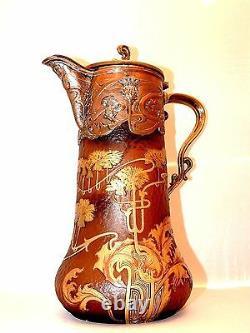 Aiguière 1900. Victor Saglier. Daum. Pate Of Glass. Art Nouveau. Modern Style