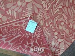 Ameub Fabric. Two-coloured Damascus, Art Nouveau Style Red Satin Background Lelièvre L170x133