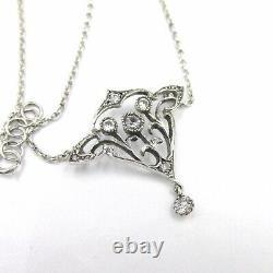 Ancient 19th Century Victorian Art Nouveau Silver Pendant Brooch