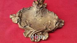 Ancient Fireplace Servant Style Epoque Art New Complete Bronze Brass