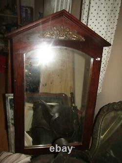 Ancient Mahogany Mirror Empire Style Bronze Gilded