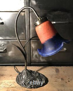 Art Nouveau Art Nouveau Tulipe Art Nouveau Art Tube Desk Lamp Glass Paste H 35 CM