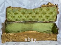Art Nouveau Majorelle Sculpted Decorative Painted Box