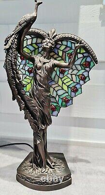 Art Nouveau Peacock Lamp Style Tiffany Tiffany Style Peacock Art Nouveau Lamp