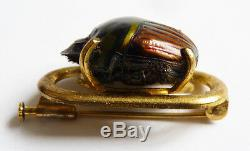 Art Nouveau Pin Beetle Insect Jugendstil Modern Style Scarab Brooch 1900