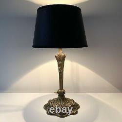 Art Nouveau Style Bronze Lamp In Leleu Style