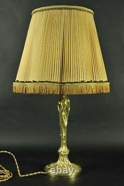 Art Nouveau-style Gilded Bronze Lamp