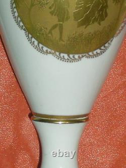 Balust Vase Dogneck Porcelain Style Napoleon III Incruste Gold
