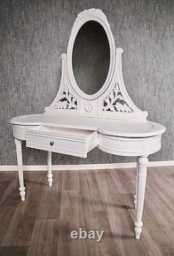Baroque Hairdresser White Antique Massif Style Mirror Art Vintage Hairdresser Nine