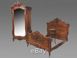 Bedroom Walnut Louis XV Style Rock 1900