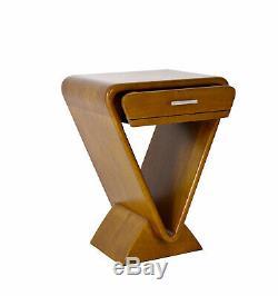 Bedside Art Deco Style Icon Model Anne De Béjarry Solid Wood