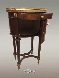 Bedside Table Louis XVI Style Mahogany Ormolu