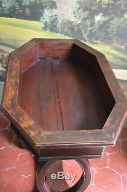 Belle Jardiniere Empire Style Mahogany Tray In Zinc Scuptures Animal