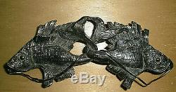 Belt Buckle, Koi, 800 Silver, Art Nouveau. Signed, Identify