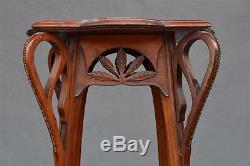 Bolster Wooden 1900s Art Nouveau