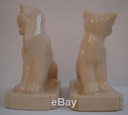 Bookend Figurine Cat Animal Style Art Deco Art Nouveau Cracked