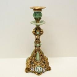 Bougeoir Style Art Deco Style Art Nouveau Porcelaine Bronze Ceramic