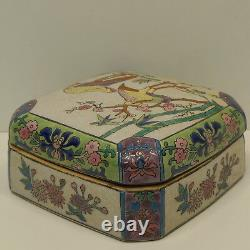 Box Jewelry Bird Style Art Deco Style Art Nouveau Porcelaine Emaux