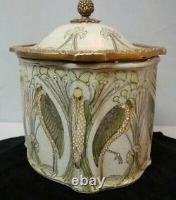 Box Jewelry Marabout Bird Style Art Deco Style Art Nouveau Ceramic