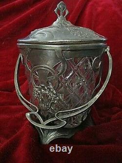 Bucket Has Biscuits Art Nouveau 1900 Judgensthil Crystal And Etan Guimard Style