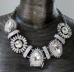 Butler And Wilson 5 Grand Stone Clearab Crystal Art Deco Style Necklace New