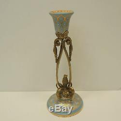 Candlestick Art Deco Style Art Nouveau Porcelain Bronze
