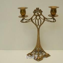 Candlestick Style Art Deco Style Art Nouveau Solid Bronze
