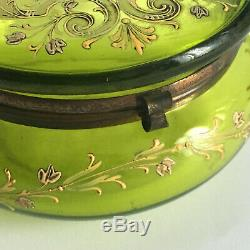 Candy Glazed Stained Glass Art Style Legras Moser Trinket Box