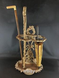 Cast Iron Umbrella-cane Door (heavy 10kg) Vintage Art Nouveau Style Country