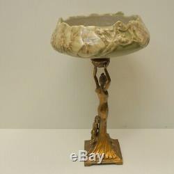 Centerpiece Dancer Art Deco Style Art Nouveau Porcelain Bronze