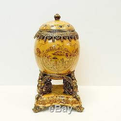 Centerpiece Flower Urn Style Art Deco Art Nouveau Porcelain Bronze