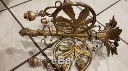 Chandelier Bronze Art Nouveau Frame Old Style Majorelle