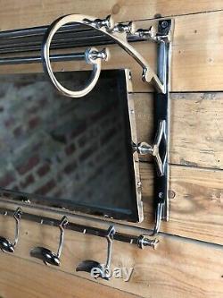 Coat Rack / Towel Lobby Art Deco Chrome 79 CM Long