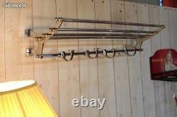 Coat Rack / Towel Rail Chrome Art Deco Style Length 72 CM