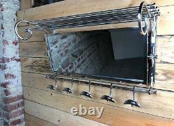 Coats/towel Holder Vestibule Chromed Art Deco Style Long 79 CM
