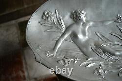 Coupe Etain Style Art Nouveau Signed Jean Garnier Epoque Late 19th / Early 1900