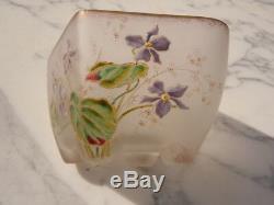 Cut Glass Paste Purple Decor Legras Style Around 1920