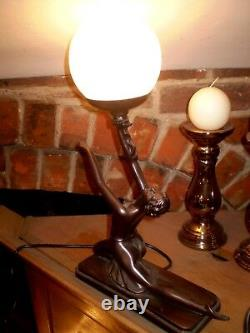 Danish Art Deco Design, Women's Table Humor Lamp, 40 Watts, Style Number Gr1196