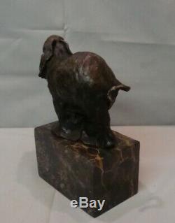 Elephant Statue Animal Style Art Deco Art Nouveau Bronze Massive