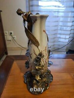 Elf Frog Vase Fee Style Art Deco Art Nouveau Bronze Porcelain Jbt9
