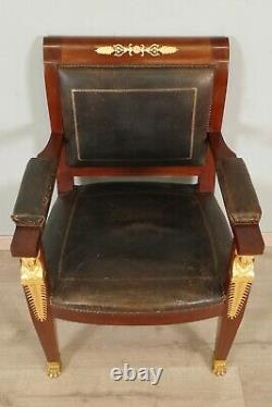 Empire-style Office Chair Back From Egypt