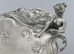 Empty-pocket Art Nouveau Style Etain Twentieth Century