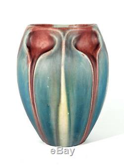 Eugene Baudin Art Nouveau Style Ceramic Vase ° Saint-briac Um 1900