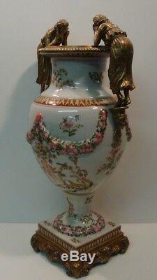 Flower Vase Figurine Style Art Deco Art Nouveau Porcelain Ceramic Bronze