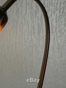 Foot Lamp Bronze Tulip Pate Nenuphare Glass Art Nouveau
