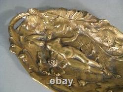Former Grand Empty Pockets Bronze Style Art Nouveau Decor Young Flowers