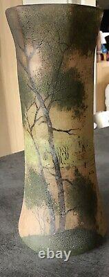 Former Vase Verre Glazed Decor Peinture Style Landscape Legras Art New