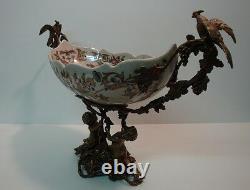 Fruity Table Center Perroquet Flower Bird Style Art Deco Style Art Nouveau